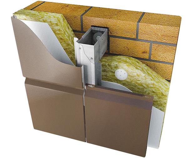 монтаж металлокассет с утеплением стен